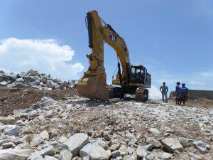 Construction of sub-structure to facilitate the movement of machinery and equipment along the coastline - Aboadze Sea Defence Project